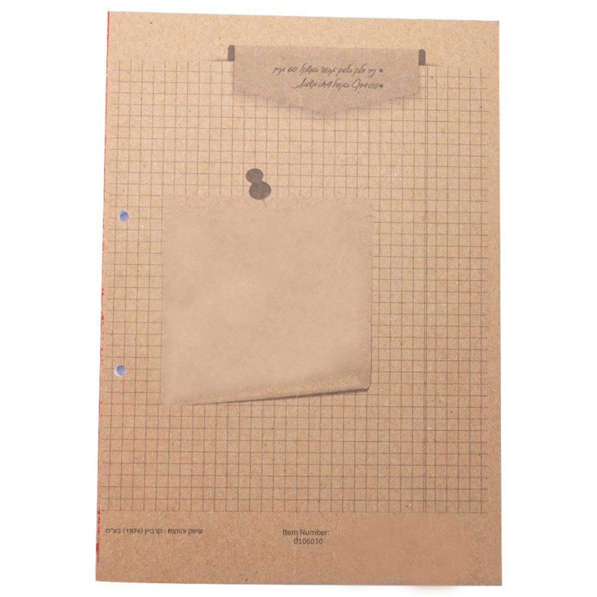 דפדפת A4 משובצת 100 דף פליק