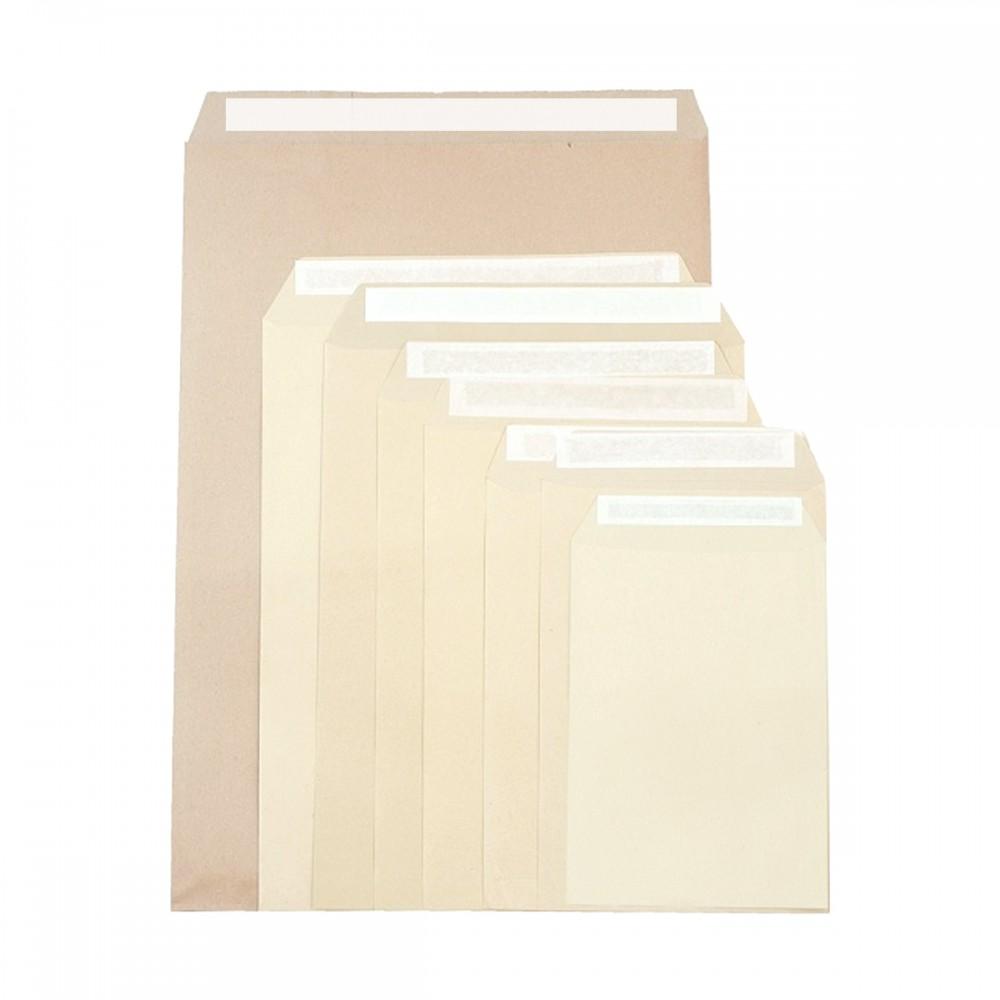 מעטפות חומות עם פס הדבקה 21*14 ס