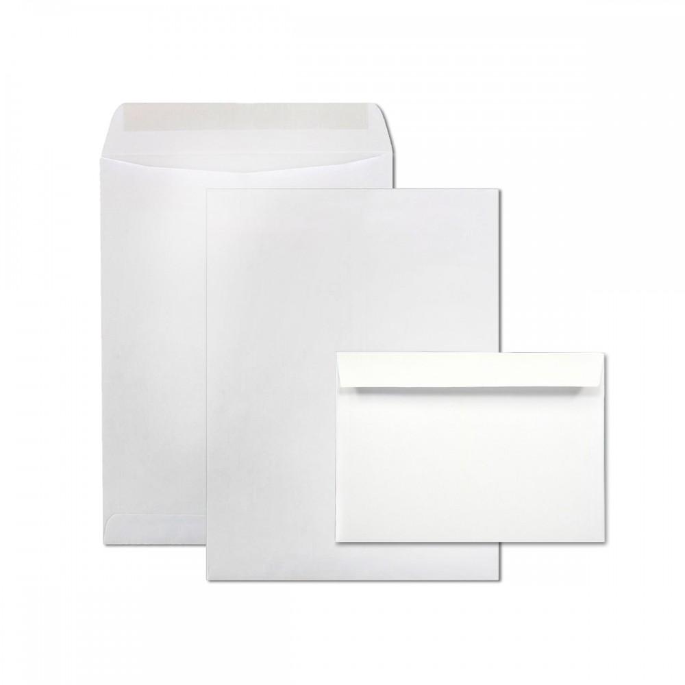 מעטפות לבנות עם פס הדבקה 25*18 ס