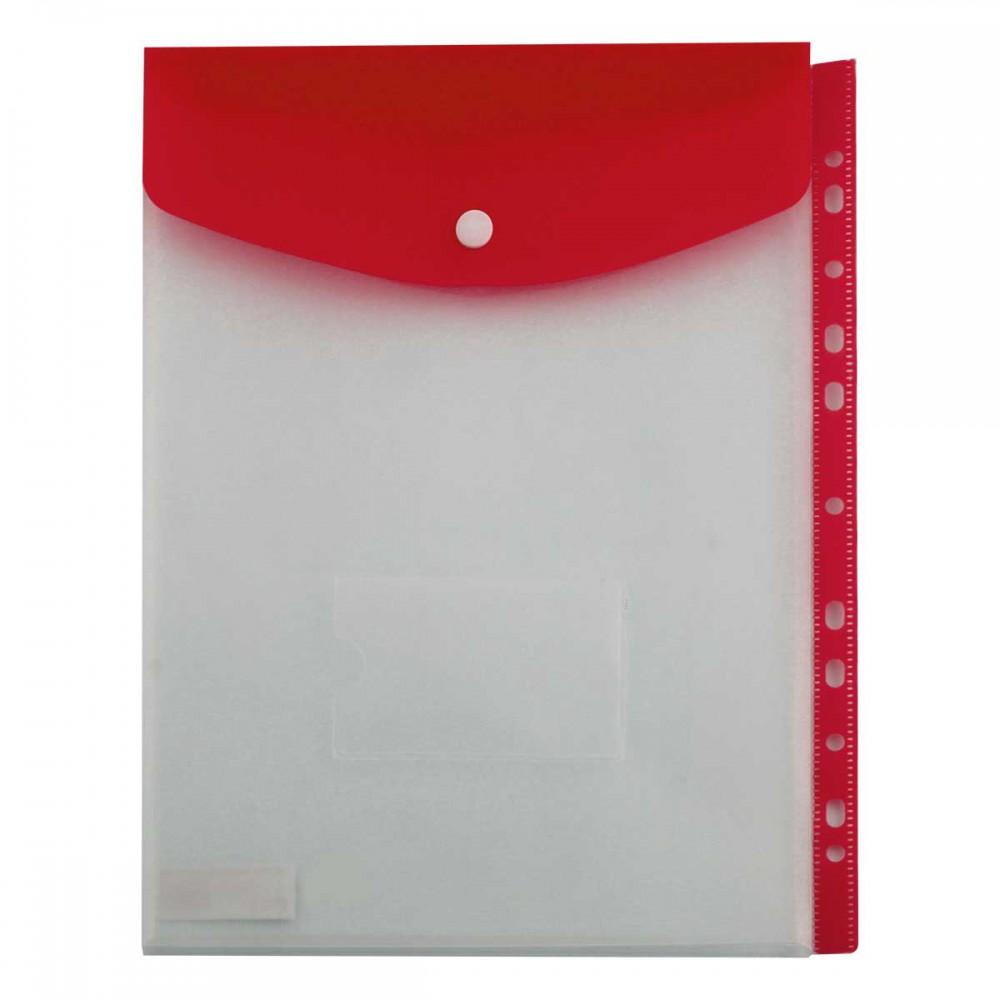 תיק מעטפה KINARY פתח עליון 11 חורים - אדום
