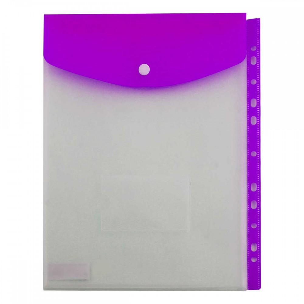 תיק מעטפה KINARY פתח עליון 11 חורים - סגול