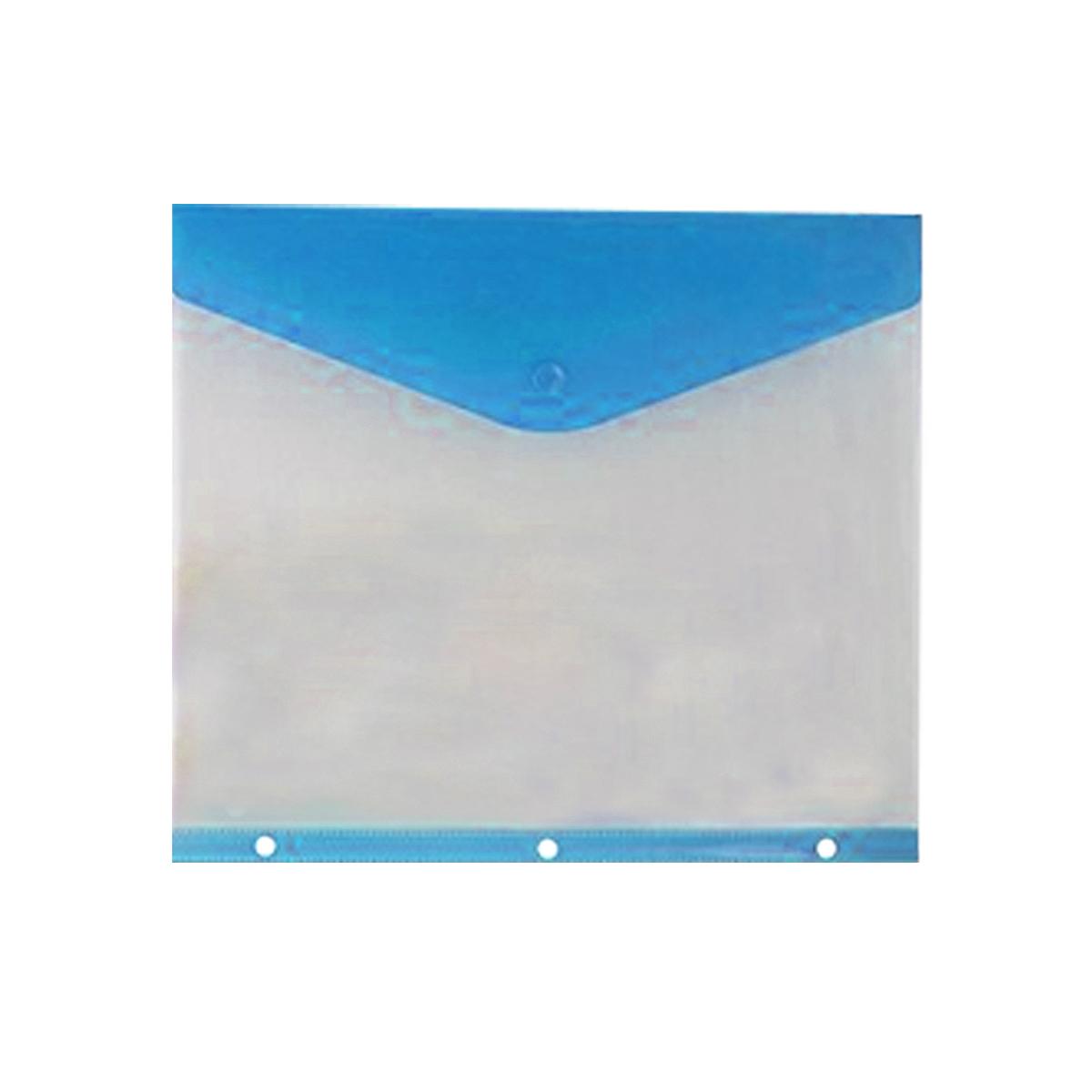 תיק מעטפה KINARY פתח צדדי 11 חורים - כחול