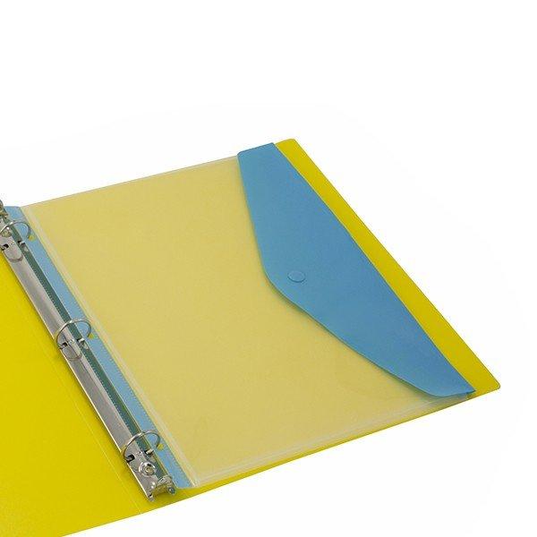 תיק מעטפה Kinary פתח צדדי 11 חורים - מעורב צבעים
