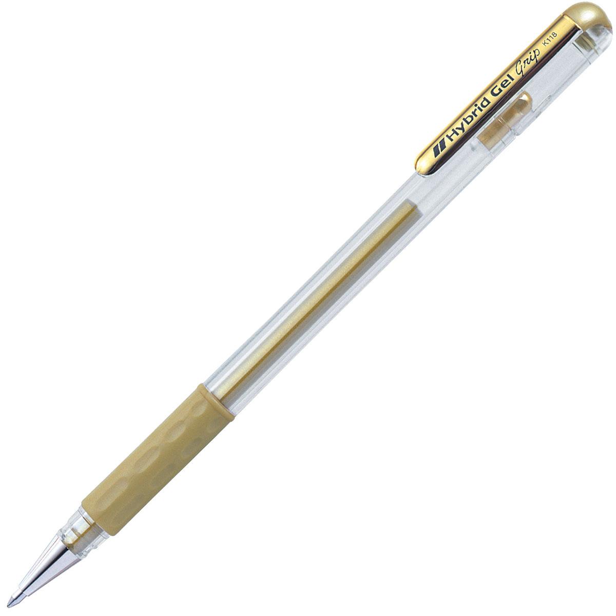 עט ג'ל מטאלי זהב Pentel K118