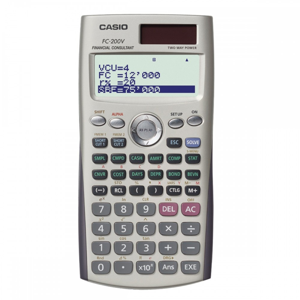 מחשבון פיננסי סולארי Casio FC-200V