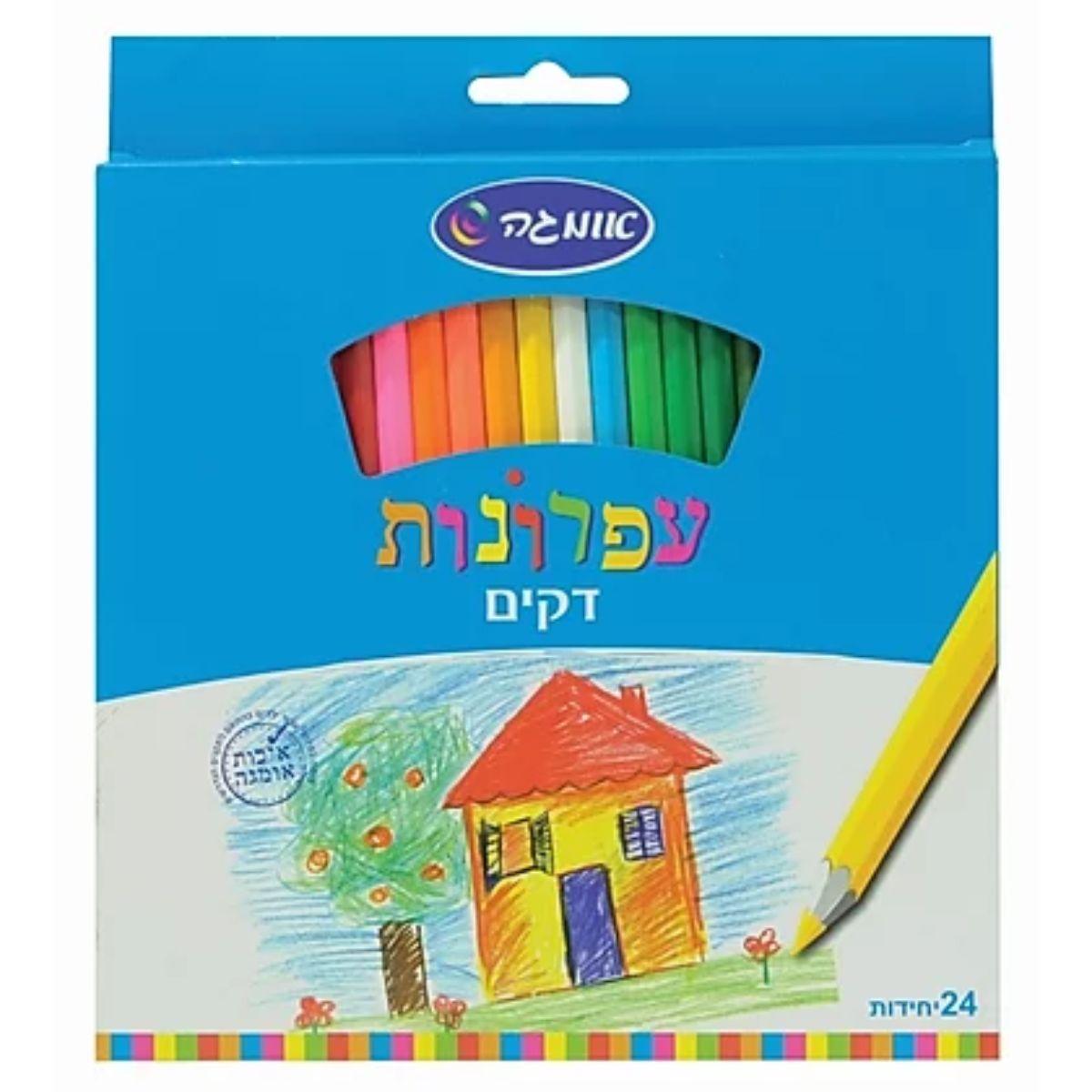 24 עפרונות צבעוניים Omega