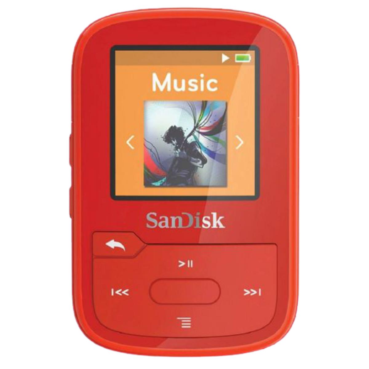 נגן SANDISK CLIP SPORT PLUS 16GB אדום