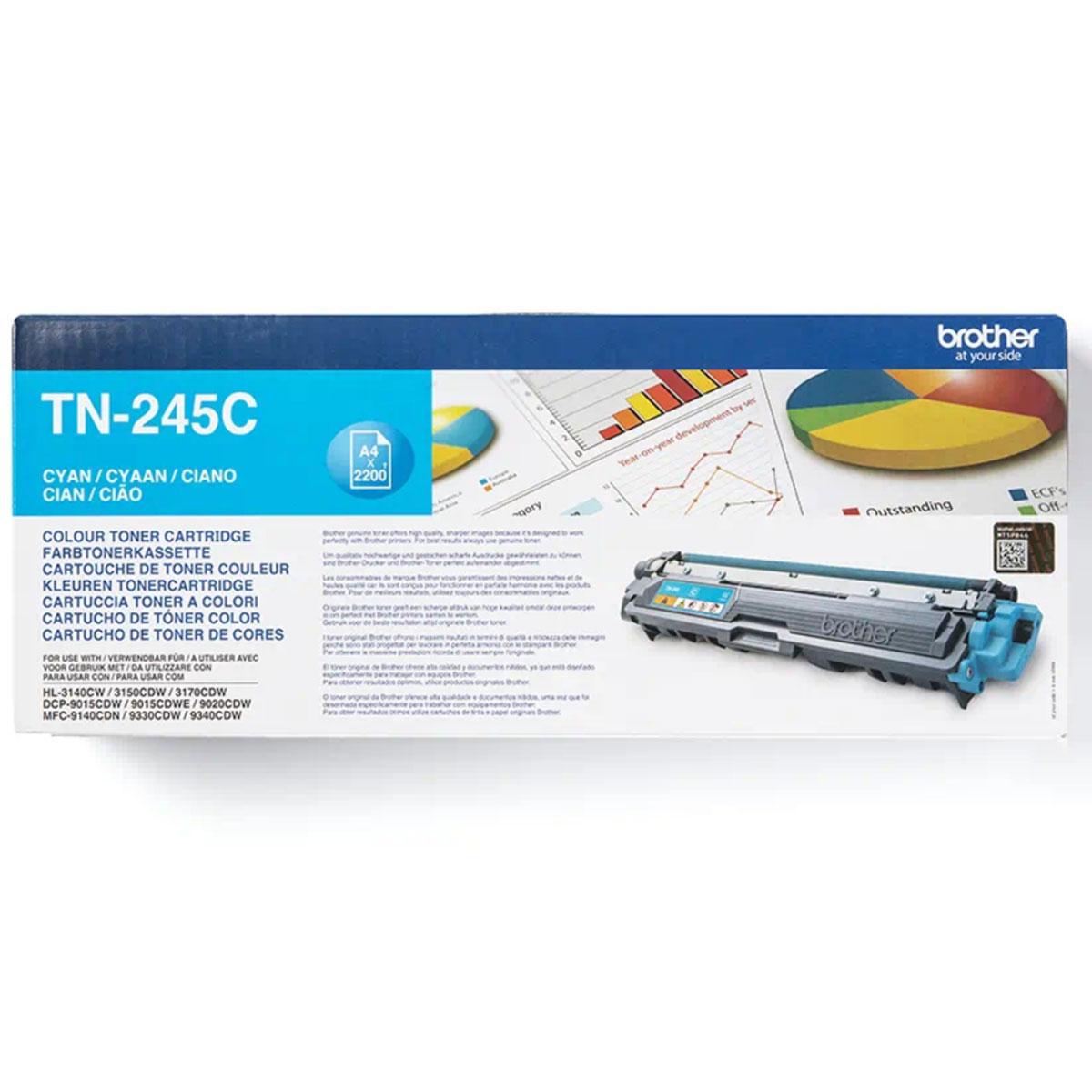 טונר כחול מוגדל ל- 2200 דף TN245C למדפסת BROTHER 9140