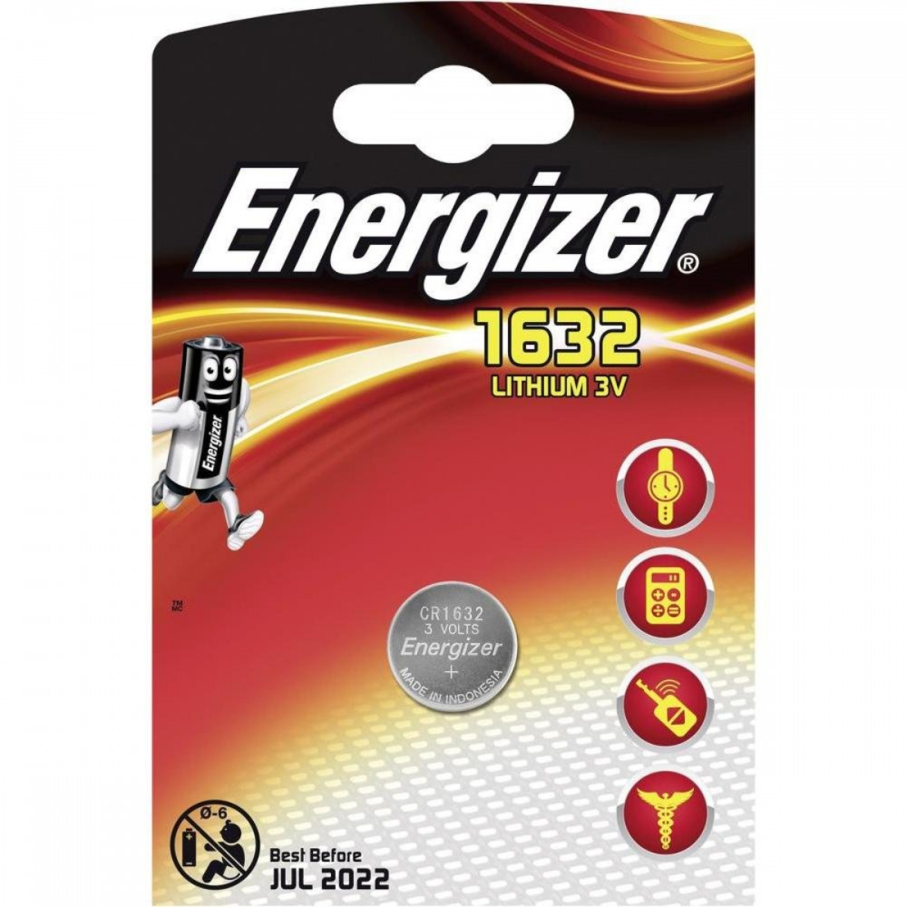 סוללת כפתור ליתיום CR1632 Energizer
