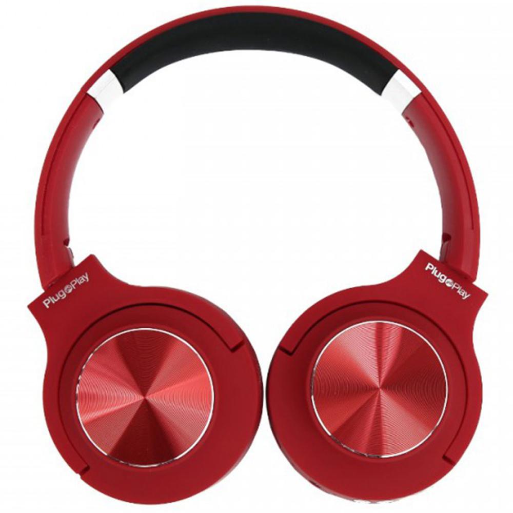 אוזניות ON-EAR אלחוטיות Plug and Play PP-8000 אדום