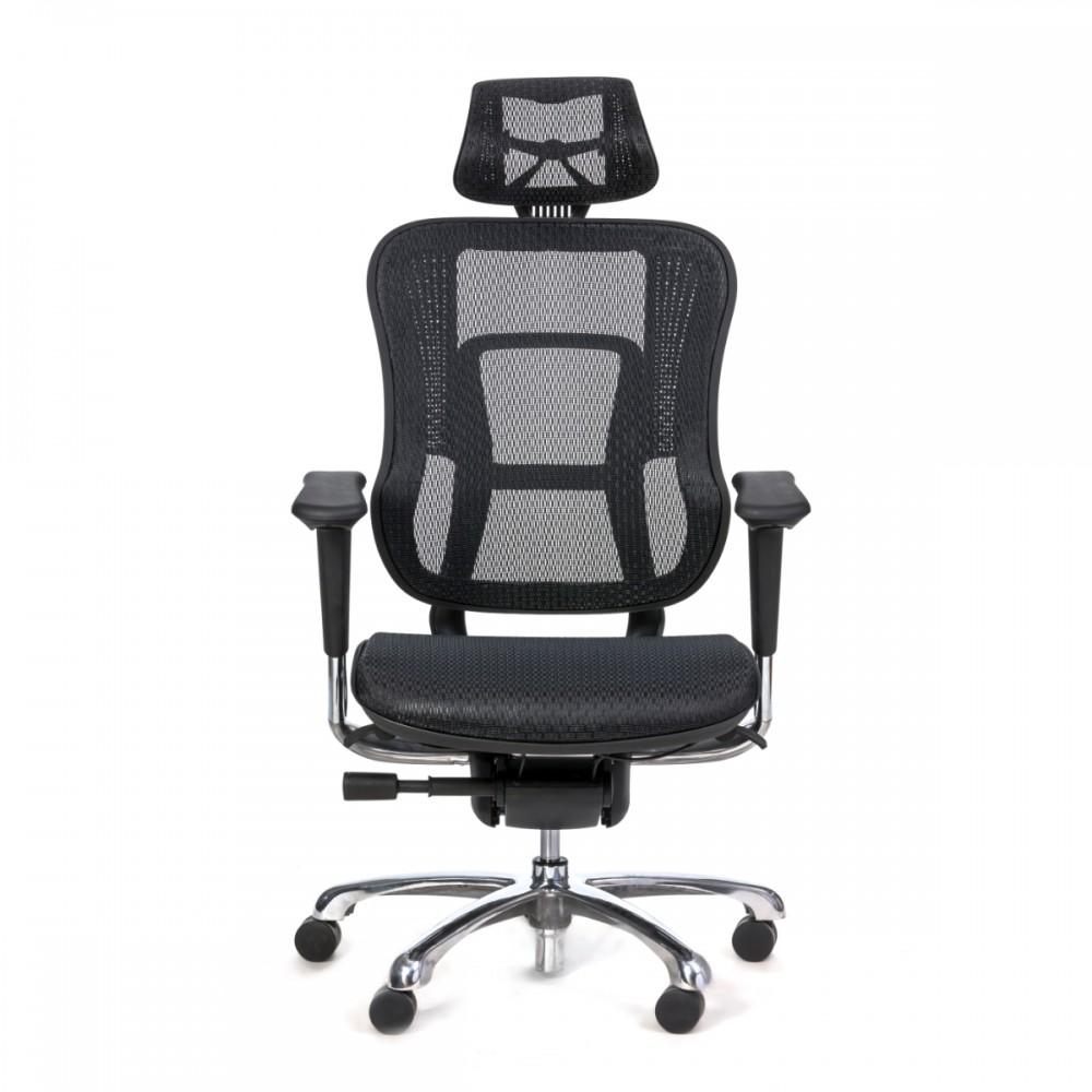 כיסא מנהל/ת עלית דמוי עור שחור