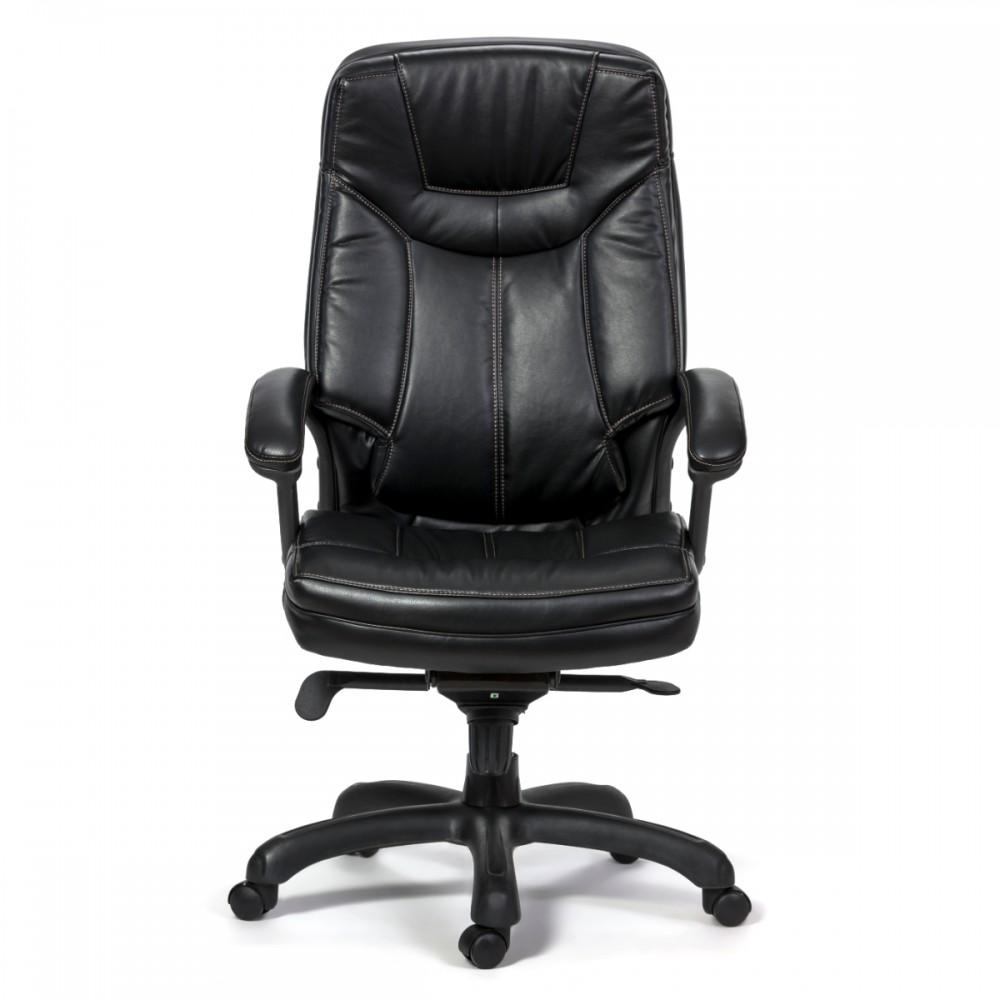 כיסא אקסנט דמוי עור שחור