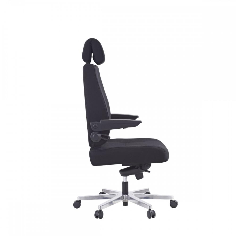 כיסא פורטה לכבדי משקל דמוי עור שחור