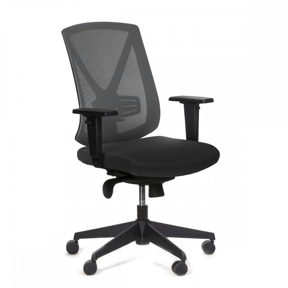כיסא עבודה גב רשת שחור מיר בינוני