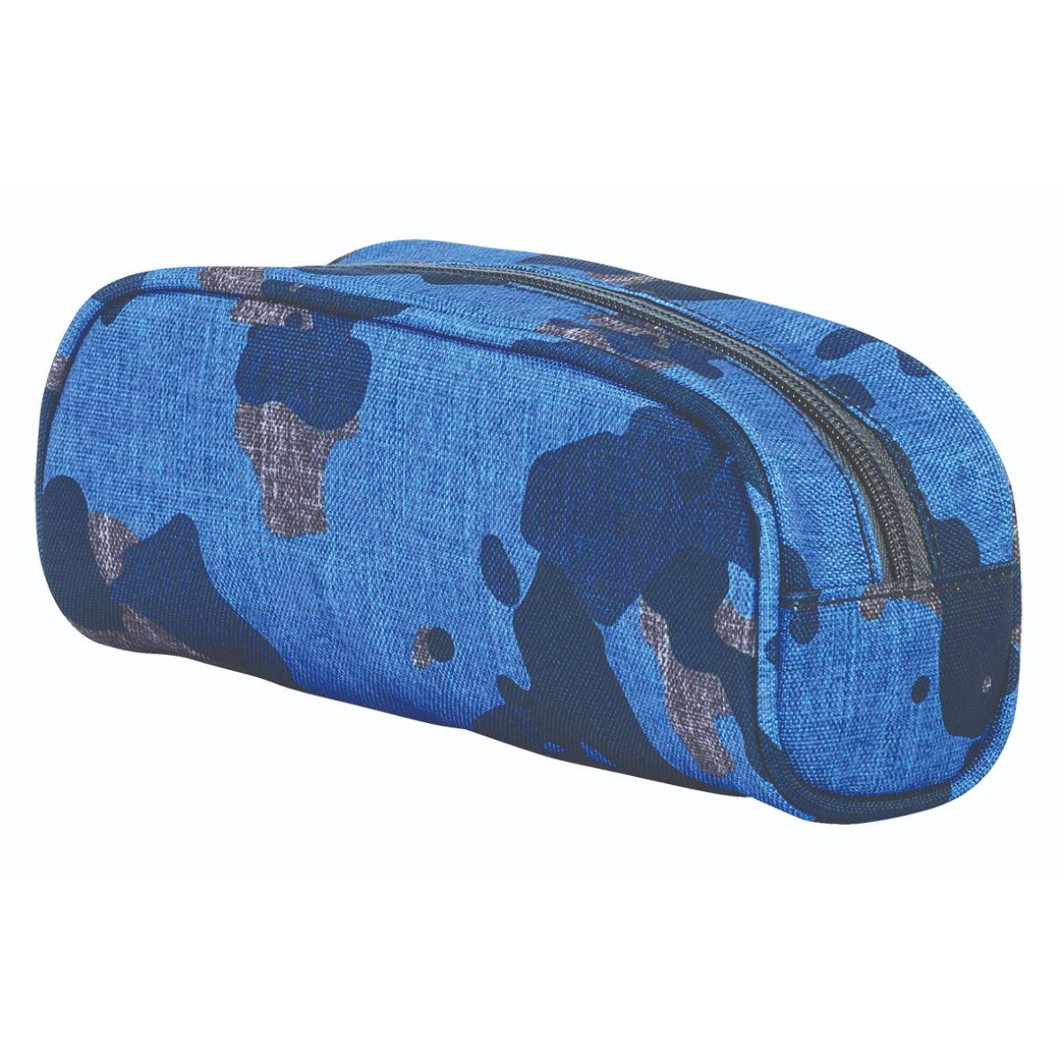  קלמר תא אחד קמופלאז' אפור כחול InWay