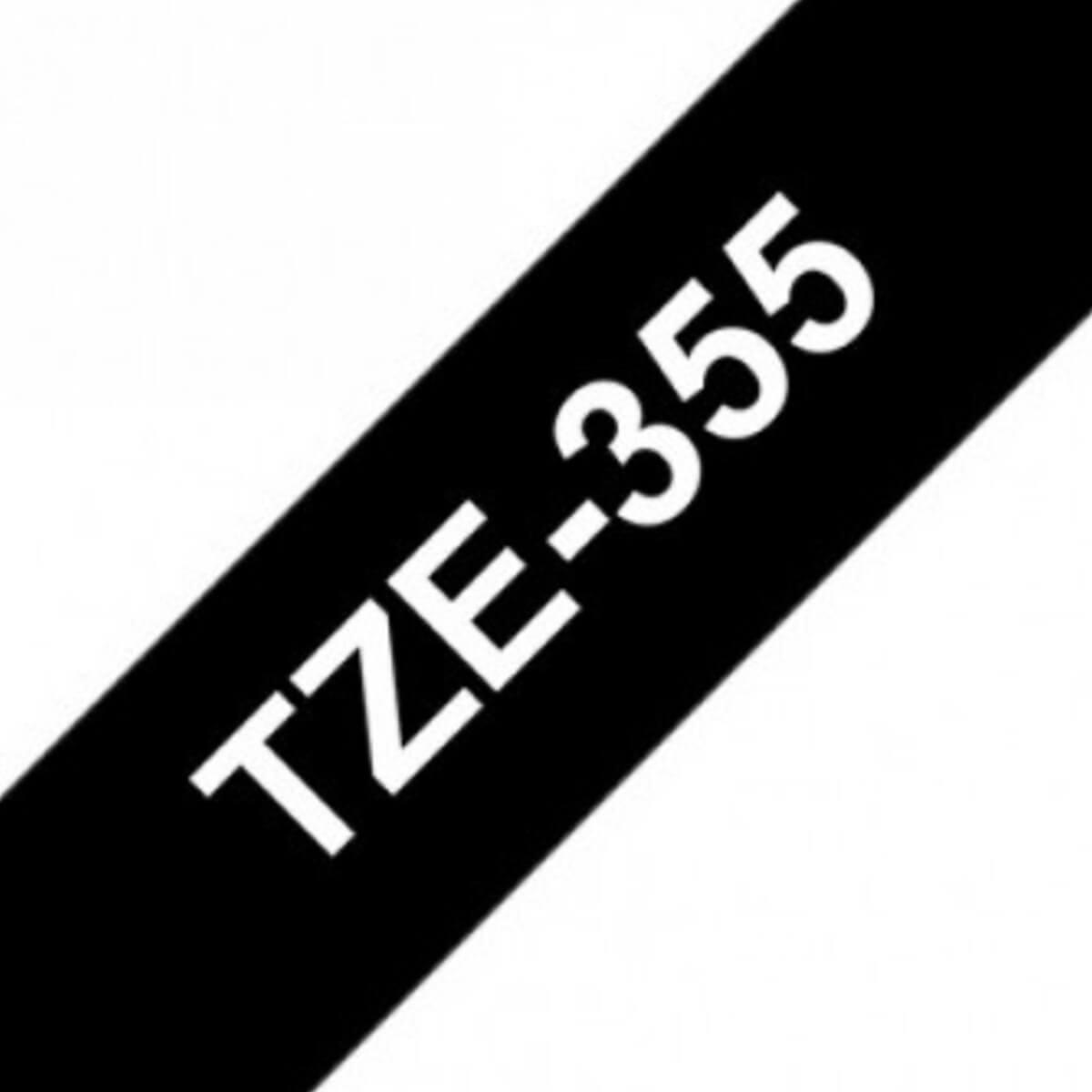 סרט לבן על רקע שחור 24 ממ TZE355