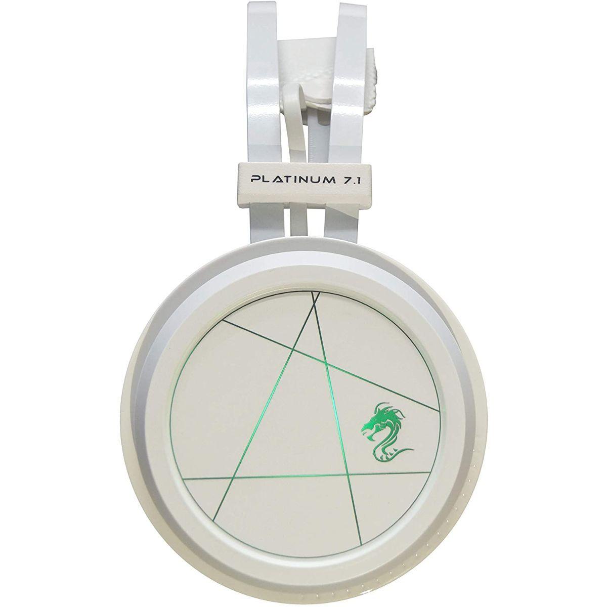 אוזניות גיימינג Dragon Platinum לבן