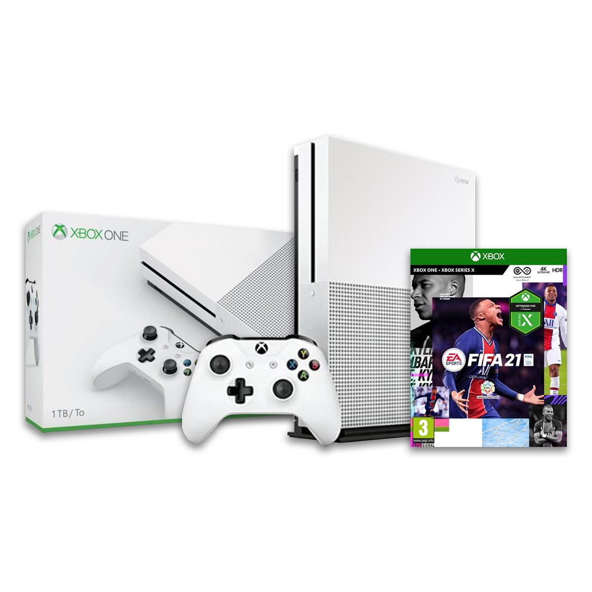 קונסולה XBOX ONE S 1TB FIFA 21