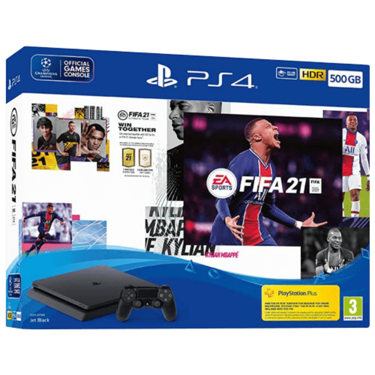 קונסולה PS4 SLIM 500GB ומשחק  FIFA21