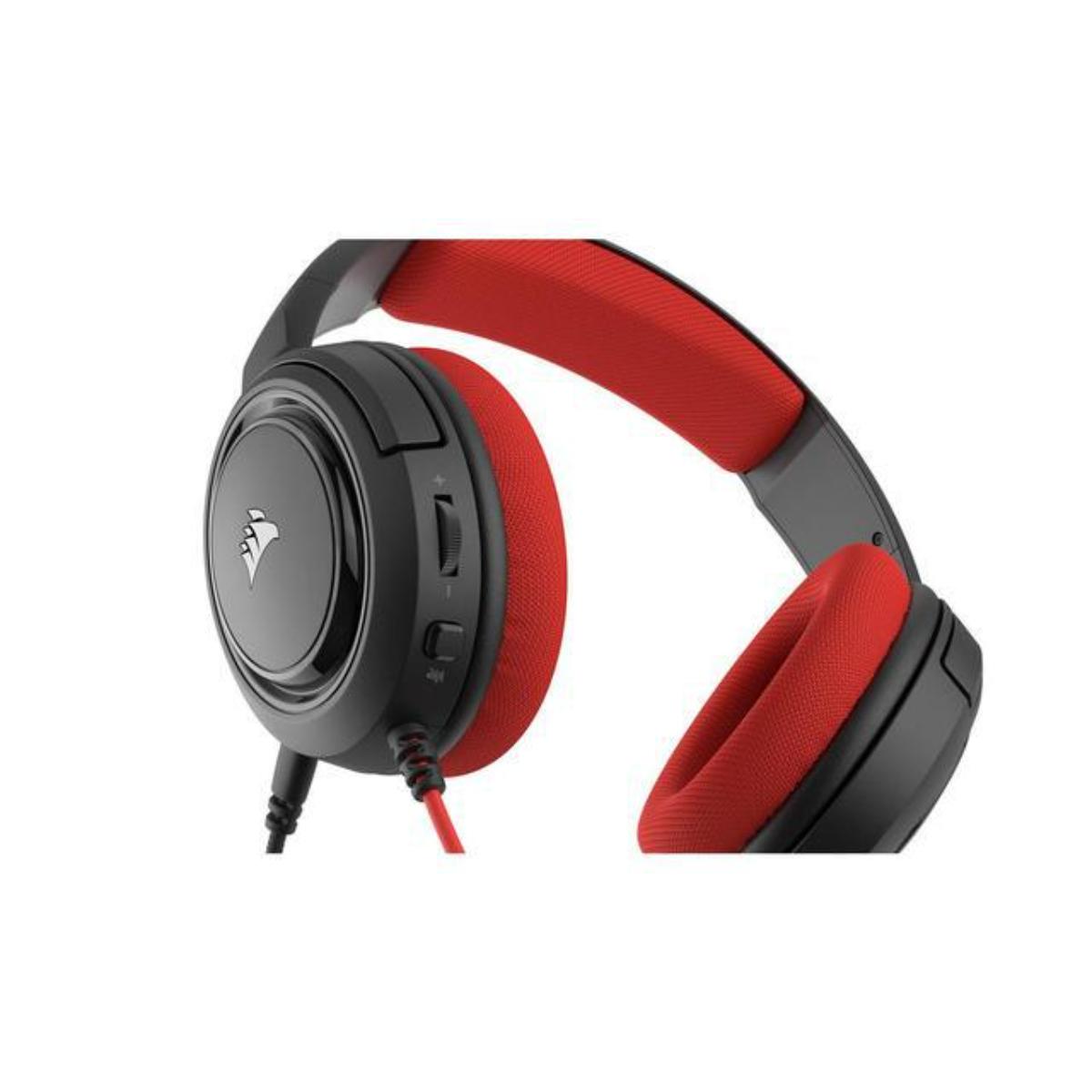 אוזניות גיימינג -Corsair HS35 STEREO  בצבע אדום