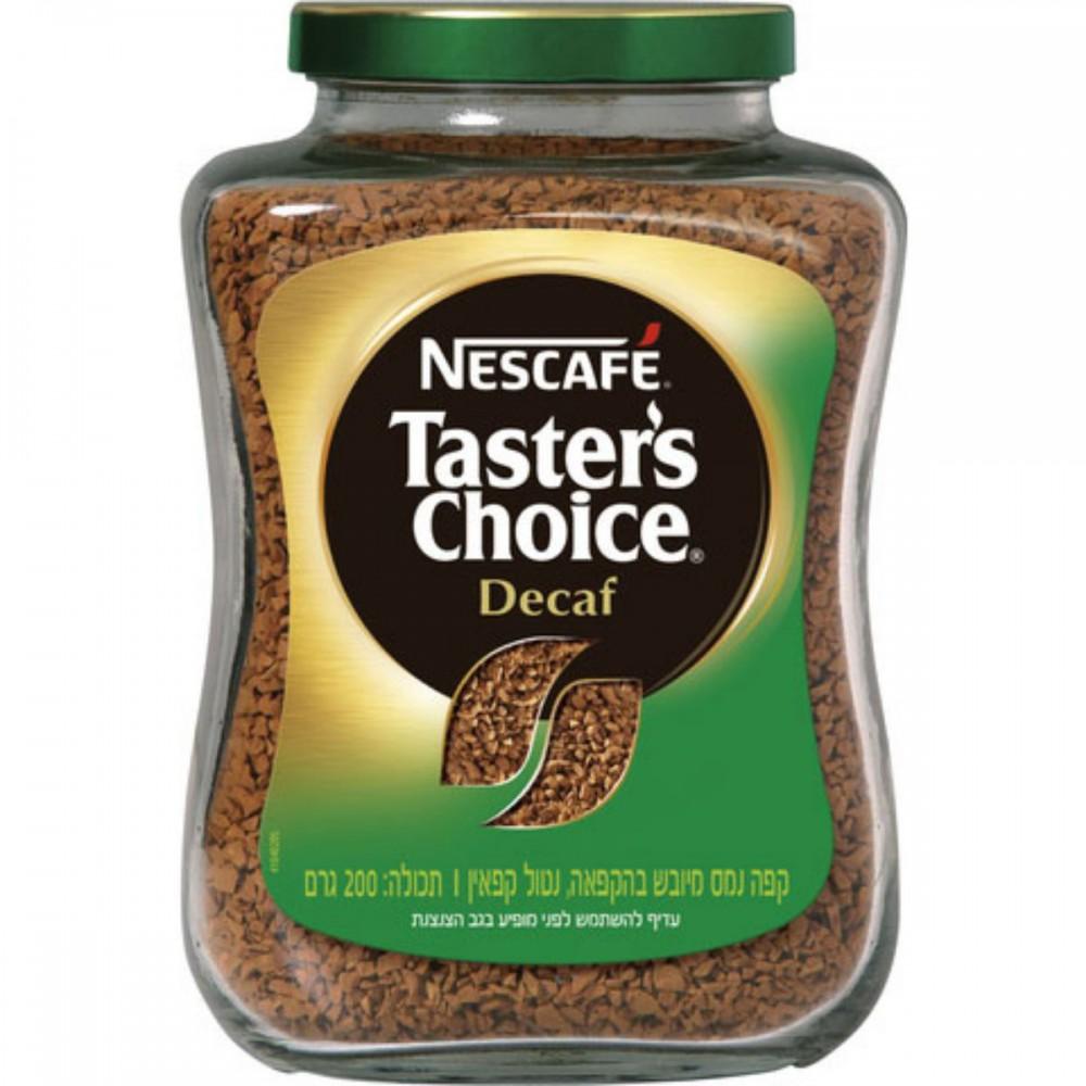 קפה נמס נטול קפאין Tasters Choice