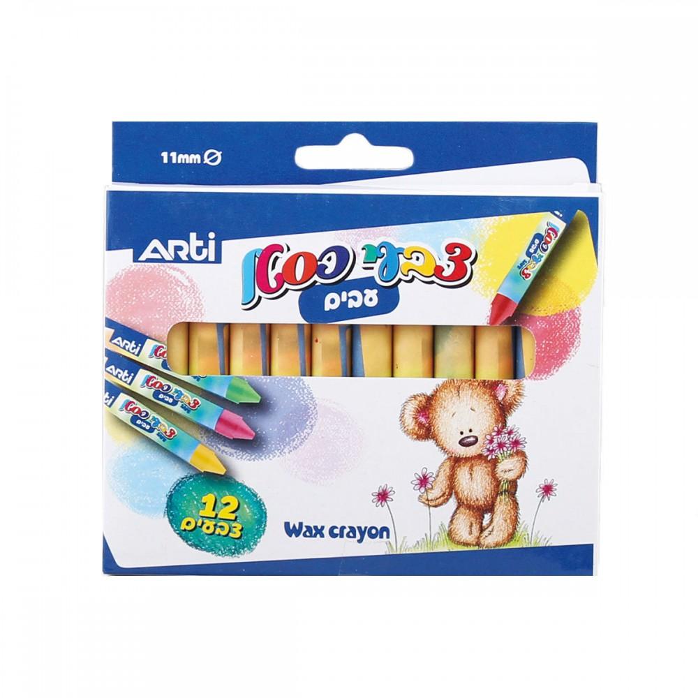סט 12 צבעי פסטל עבה ארטי