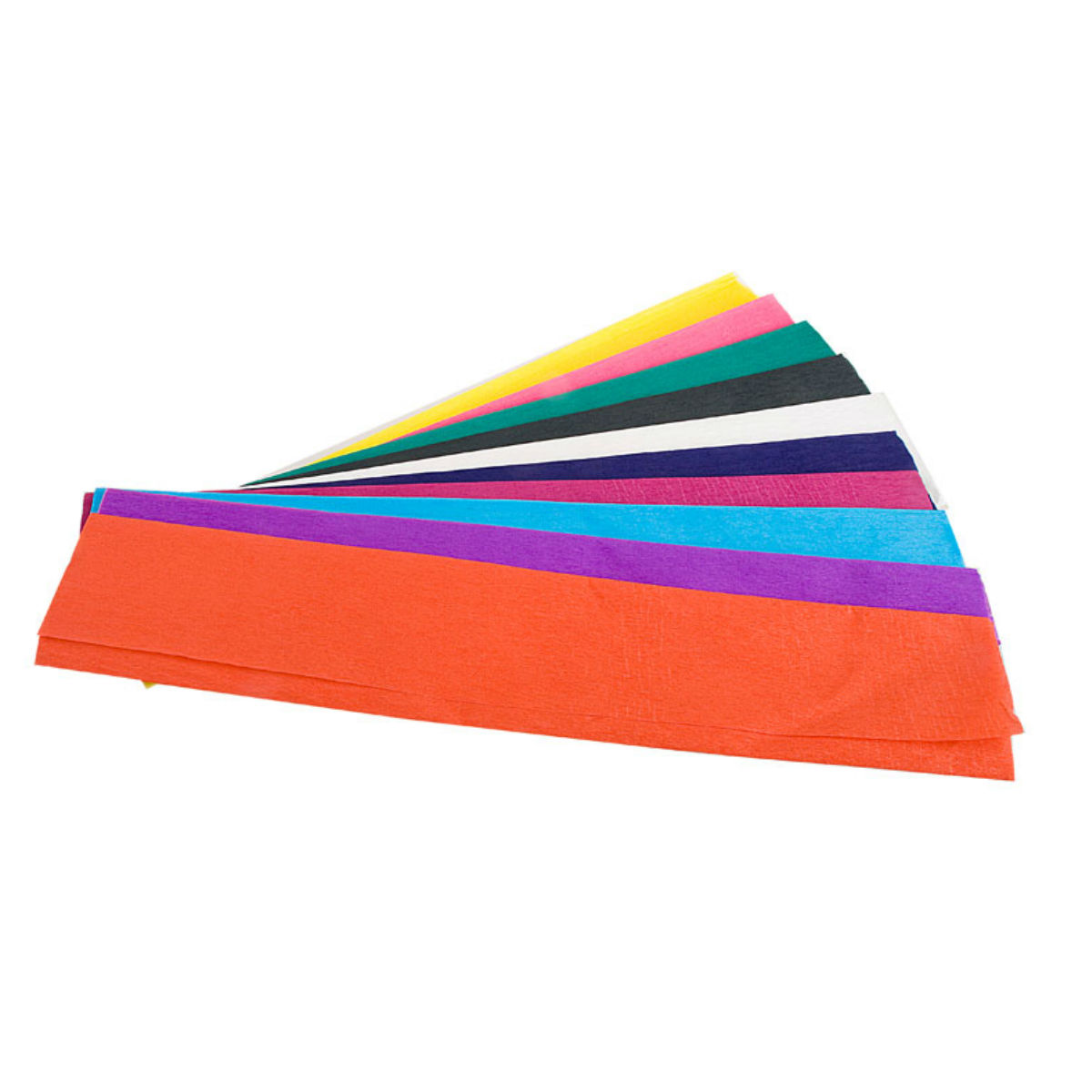 סט 10 ניירות קרפ מעורב צבעים