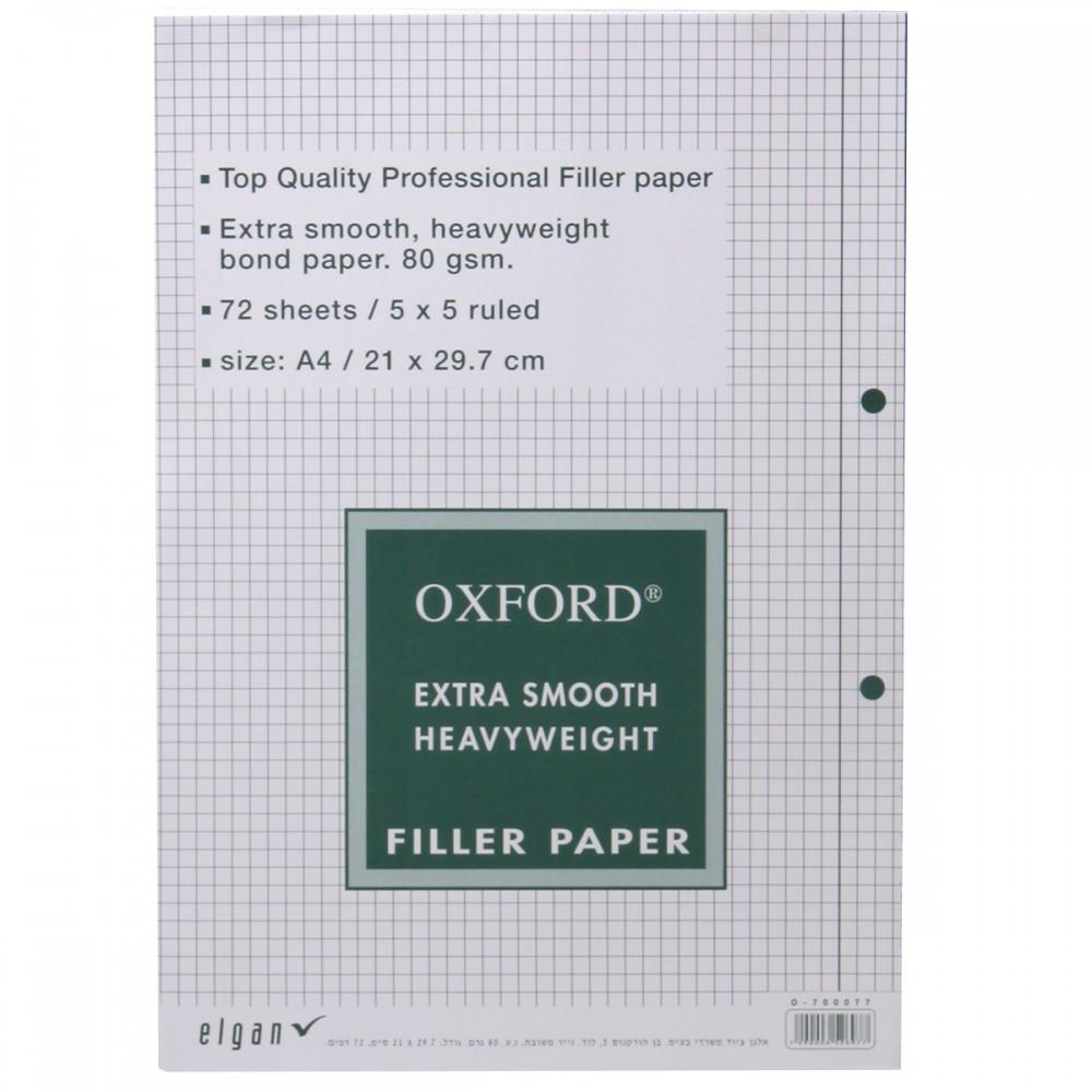דפדפת משבצות 72 דף OXFORD A4