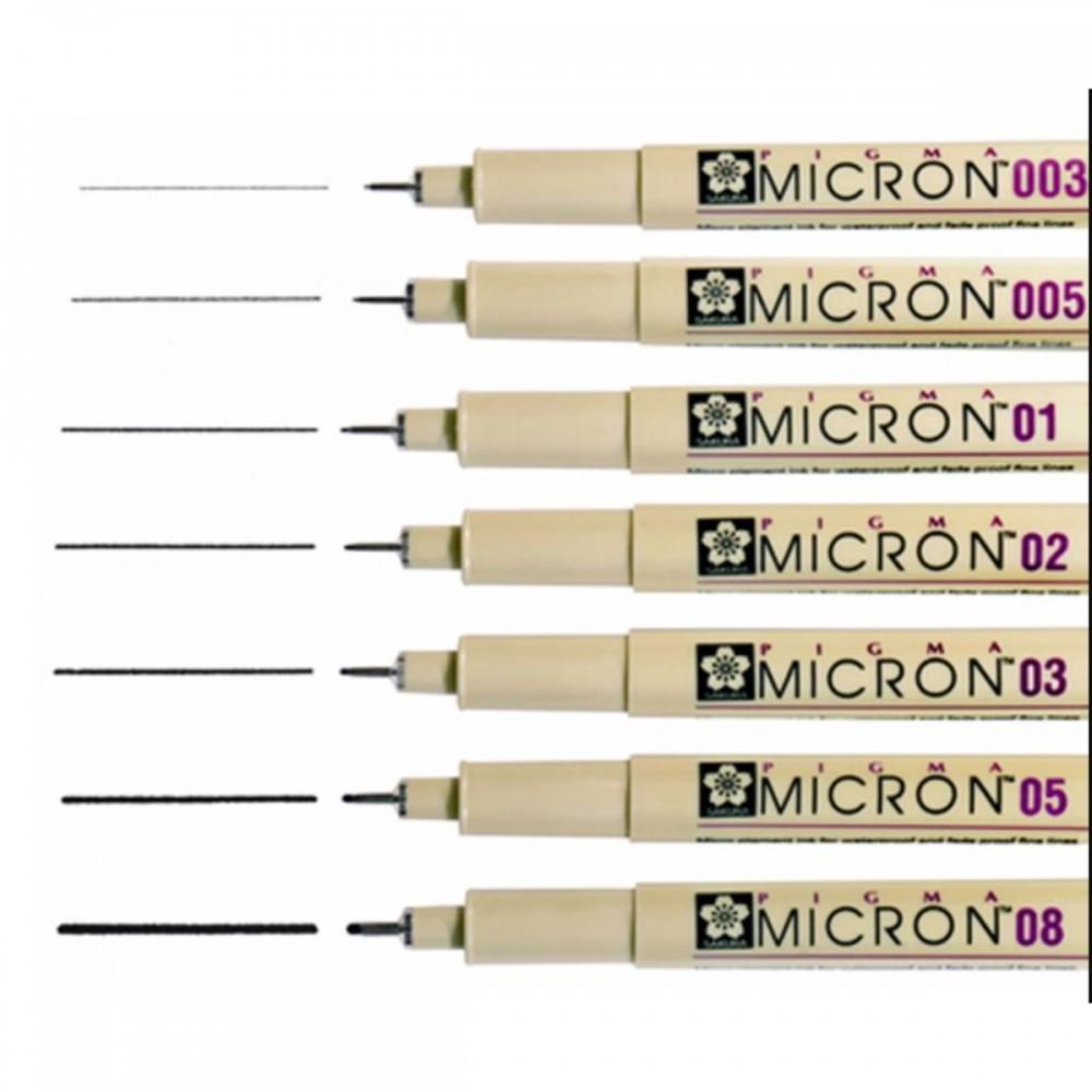 עט רפידוגרף 0.035 Sakura שחור